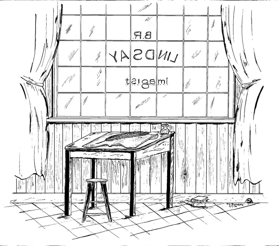 Writing desk in front of a window